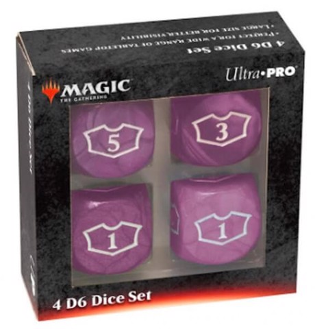 ULTRA PRO: MAGIC THE GATHERING DELUXE LOYALTY DICE - BLACK 4CT 22MM