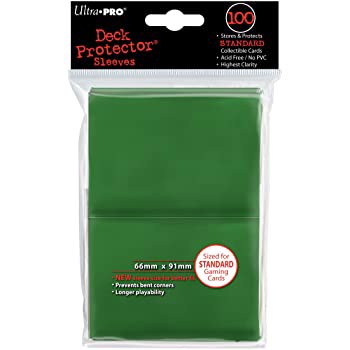 ULTRA PRO: SOLID DECK PROTECTOR - GREEN STANDARD 100CT 82693