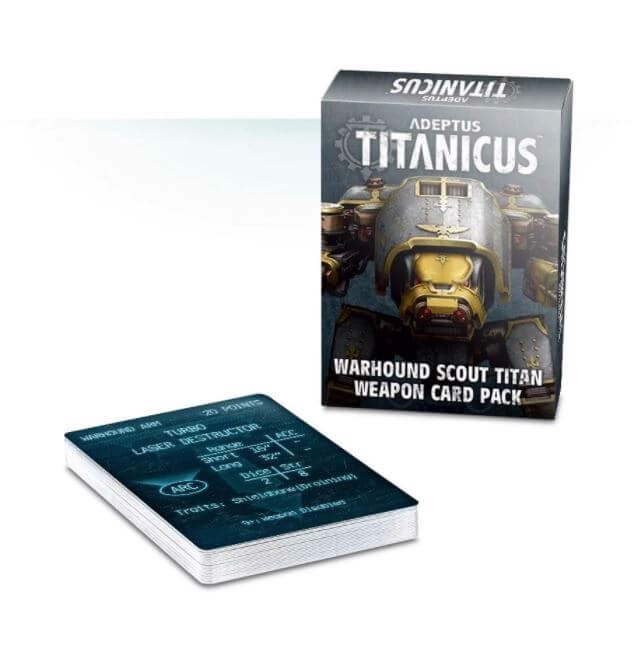 ADEPTUS TITANICUS WARHOUND SCOUT TITAN WEAPON CARD PACK (EXCLUSIVE)