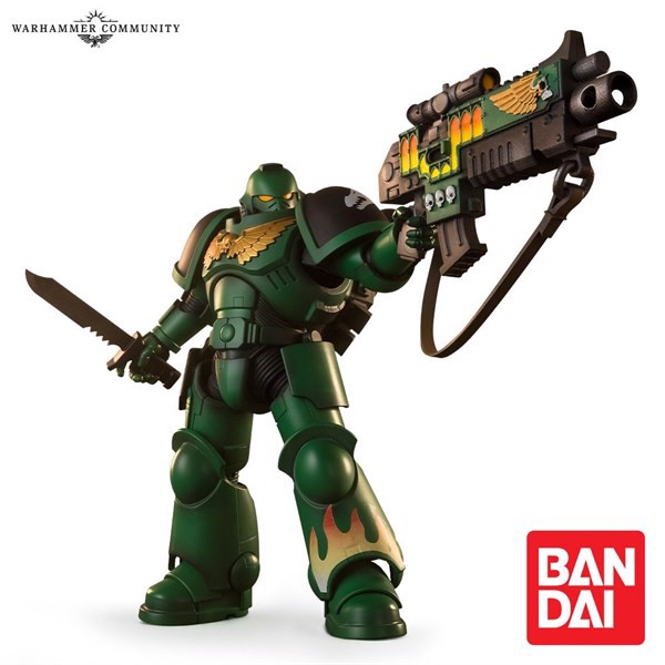 BANDAI SALAMANDERS SPACE MARINE ACTION FIGURE (EXCLUSIVE)