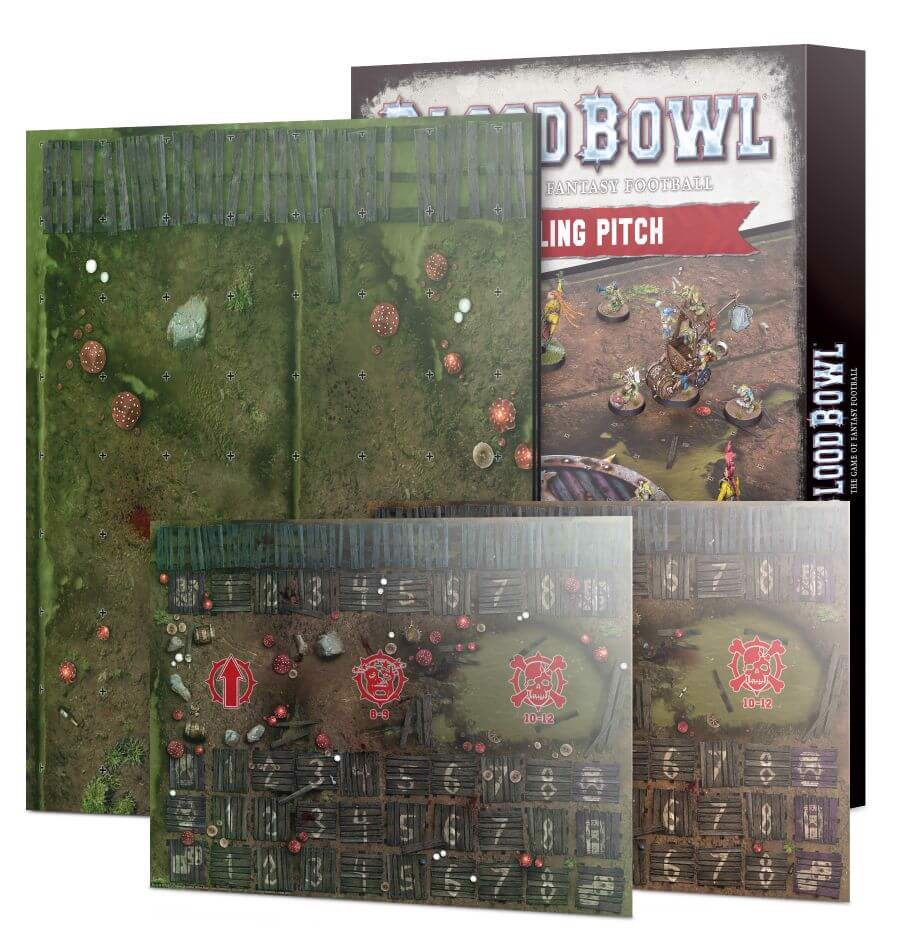BLOOD BOWL SNOTLING TEAM PITCH & DUGOUTS