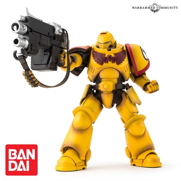 BANDAI IMPERIAL FISTS SPACE MARINE ACTION FIGURE (EXCLUSIVE)