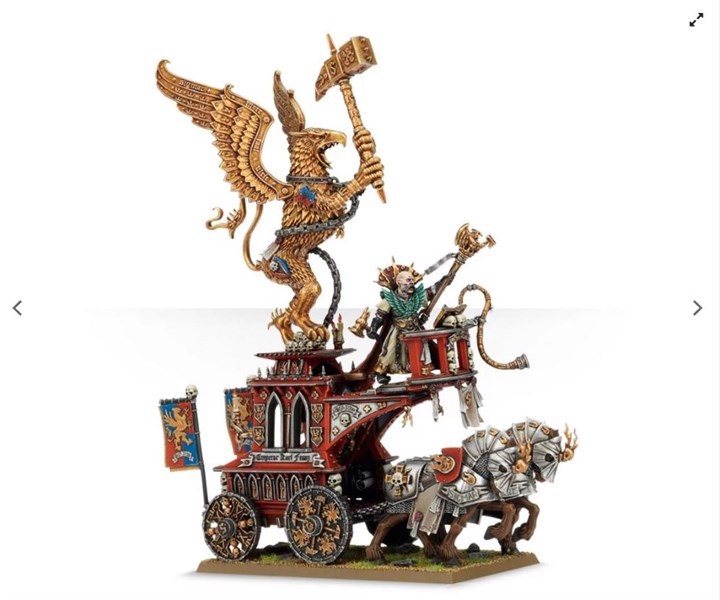 VOLKMAR THE GRIM ON THE WAR ALTAR OF SIGMAR (EXCLUSIVE)