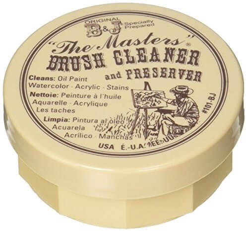 THE MASTERS BRUSH CLEANER & PRESERVER 2.5 OUNCES CARDED