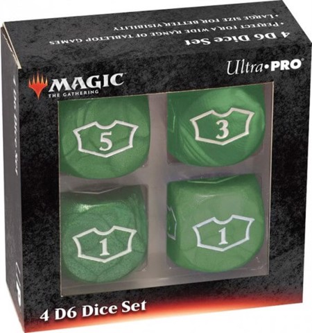 ULTRA PRO: MAGIC THE GATHERING DELUXE LOYALTY DICE - GREEN 4CT 22MM