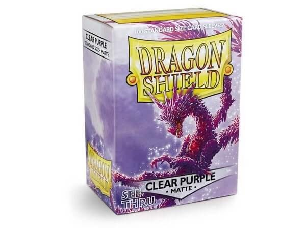 DRAGON SHIELD SLEEVES - CLEAR PURPLE (x100)