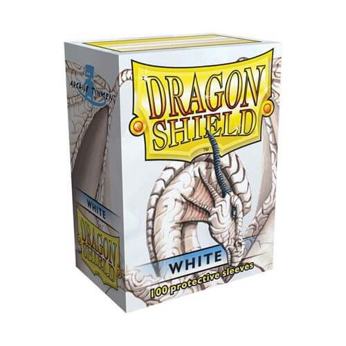 DRAGON SHIELD SLEEVES: WHITE (BOX OF 100)