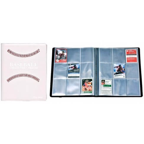 ULTRA PRO: PREMIUM PRO-BINDER - 9-POCKET WHITE STITCHED BASEBALL