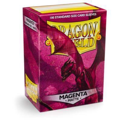 DRAGON SHIELD SLEEVES – MAGENTA MATTE (x100)