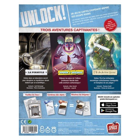 UNLOCK! ESCAPE ADVENTURES (BOARD GAME)