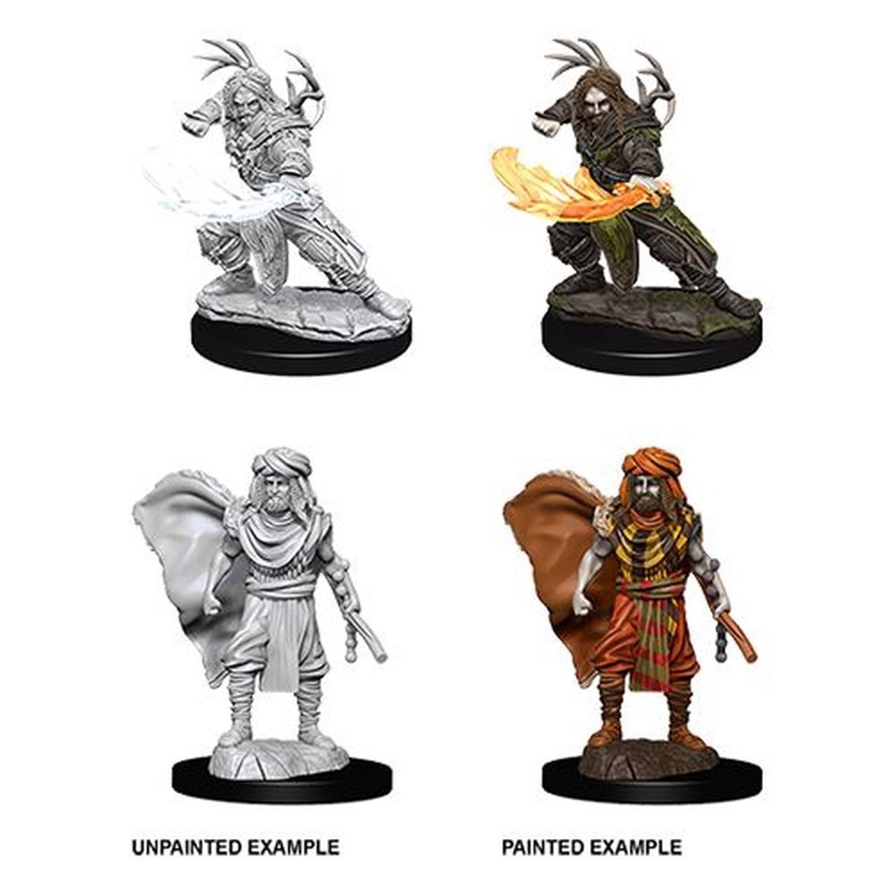 DUNGEONS AND DRAGONS: NOLZUR'S MARVELOUS UNPAINTED MINIATURES -W2-FEMALE HUMAN DRUID