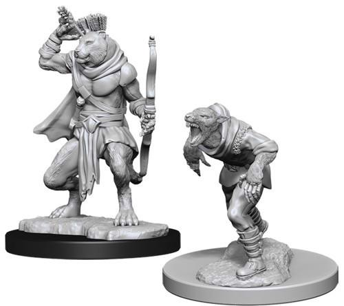 DUNGEONS AND DRAGONS: NOLZUR'S MARVELOUS UNPAINTED MINIATURES -W11-WERERAT AND WERETIGER