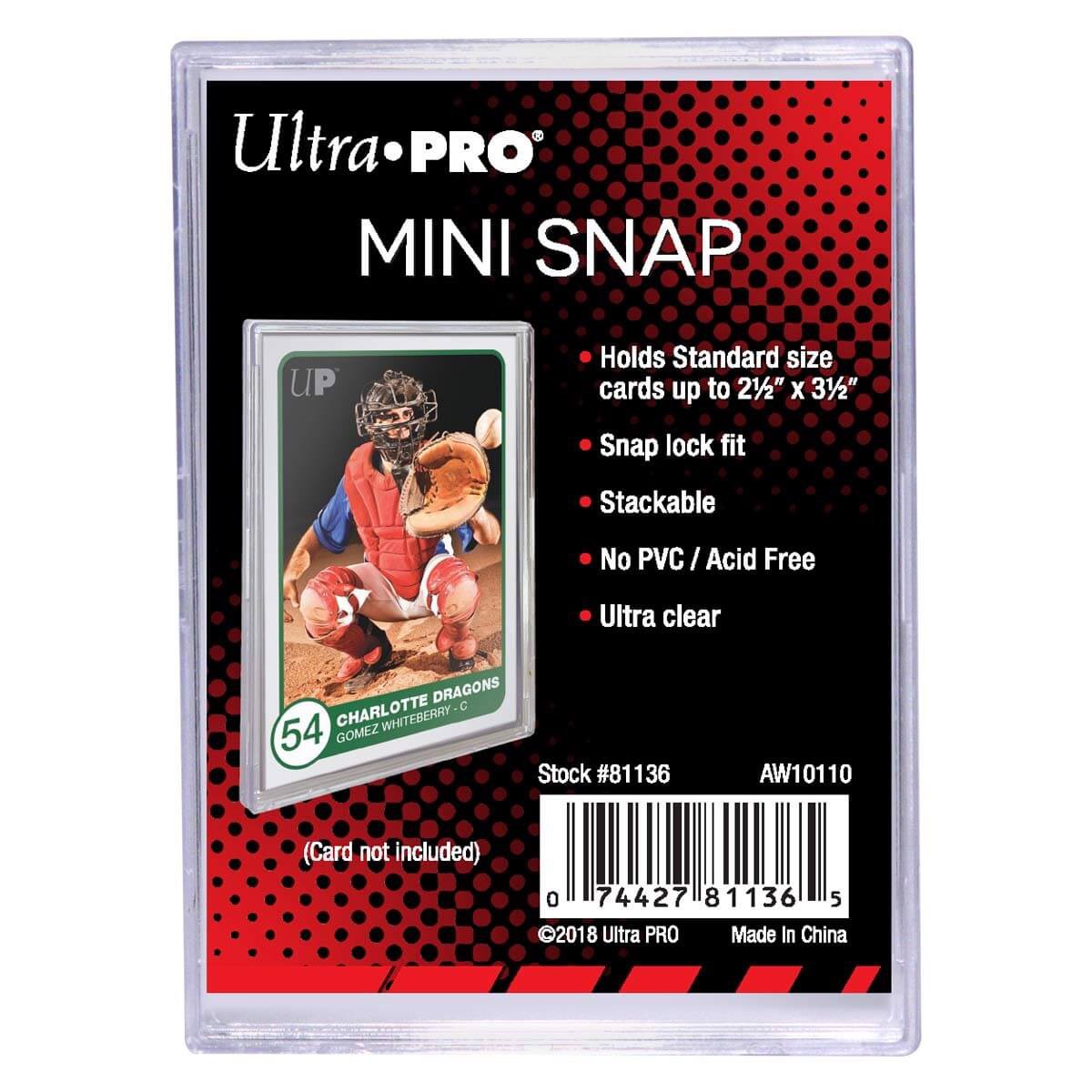 ULTRA PRO: MINI CARD HOLDER - UV SNAP