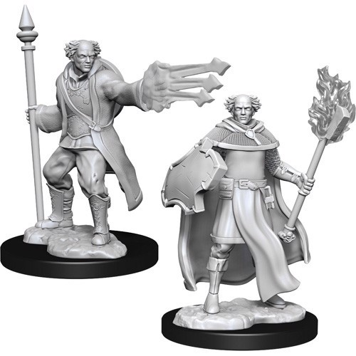 DUNGEONS AND DRAGONS NOLZUR'S MARVELOUS MINIATURES: W13 MALE MULTICLASS CLERIC-WIZARD