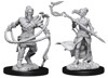 MAGIC THE GATHERING UNPAINTED MINIATURES: W13 STONEFORGE MYSTIC AND KOR HOOKMASTER