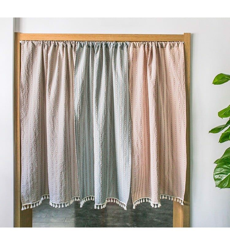 Flower two-piece Japanese-style curtain