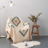 Moroccan stitching blanket