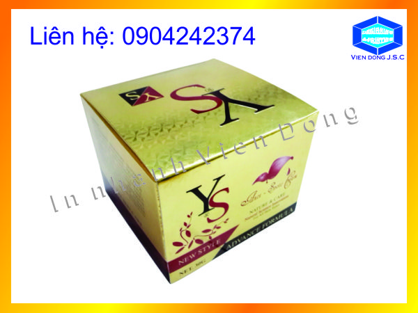 Vỏ hộp giấy đựng mỹ phẩm
