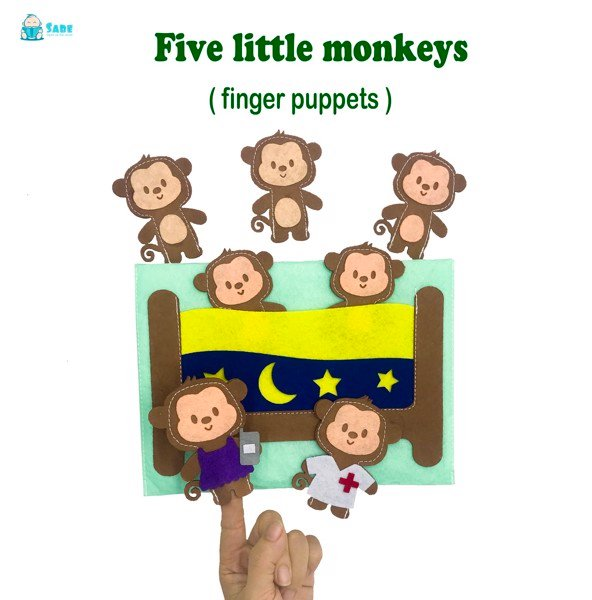 Bộ rối tay Five little monkeys