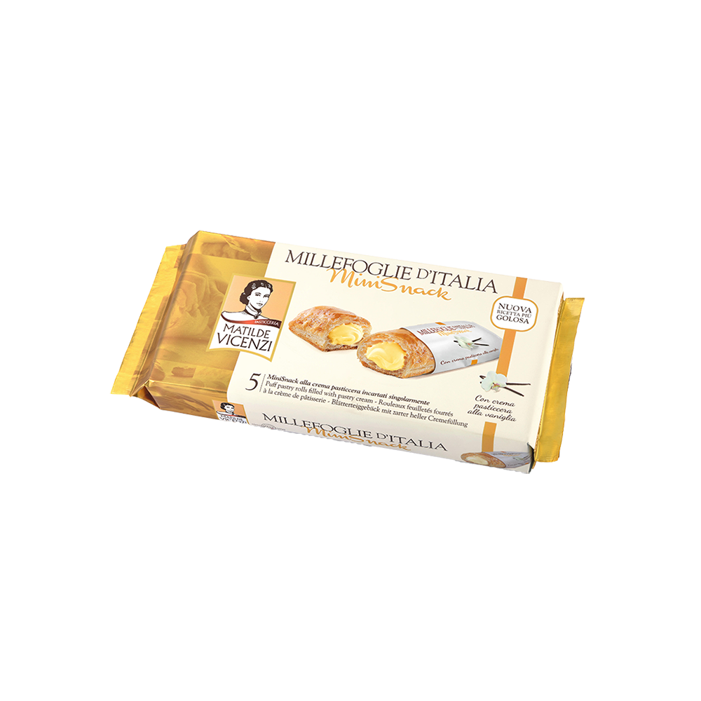 Bánh puff pastry cuộn kem Pastry Cream Millefoglie D'italia MiniSnack 125g