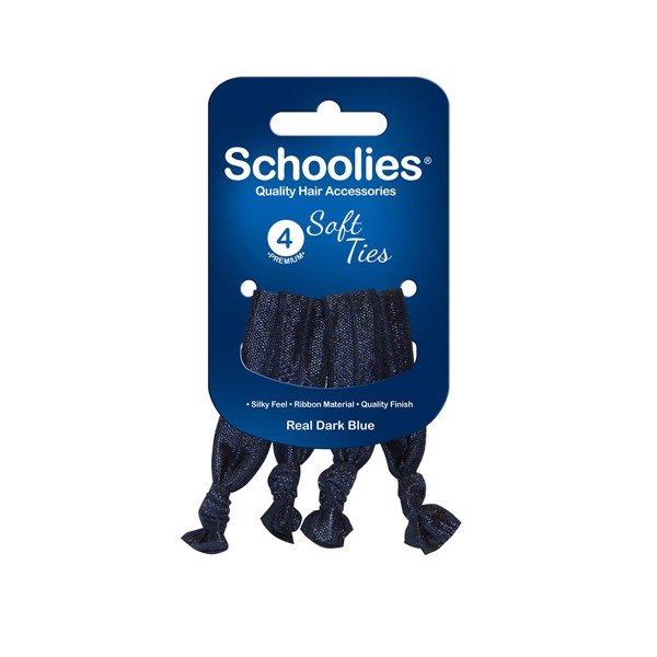 Cột tóc NƠ  Schoolies 4pc Real dark blue