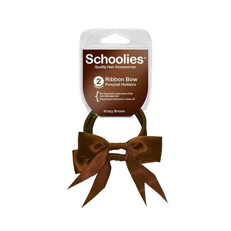Cột ruy băng schoolies 2pc Krazy Brown