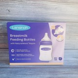 Set 3 Bình Sữa Lansinoh Breastmilk With NaturalWave Nipple 160ml & 240ml