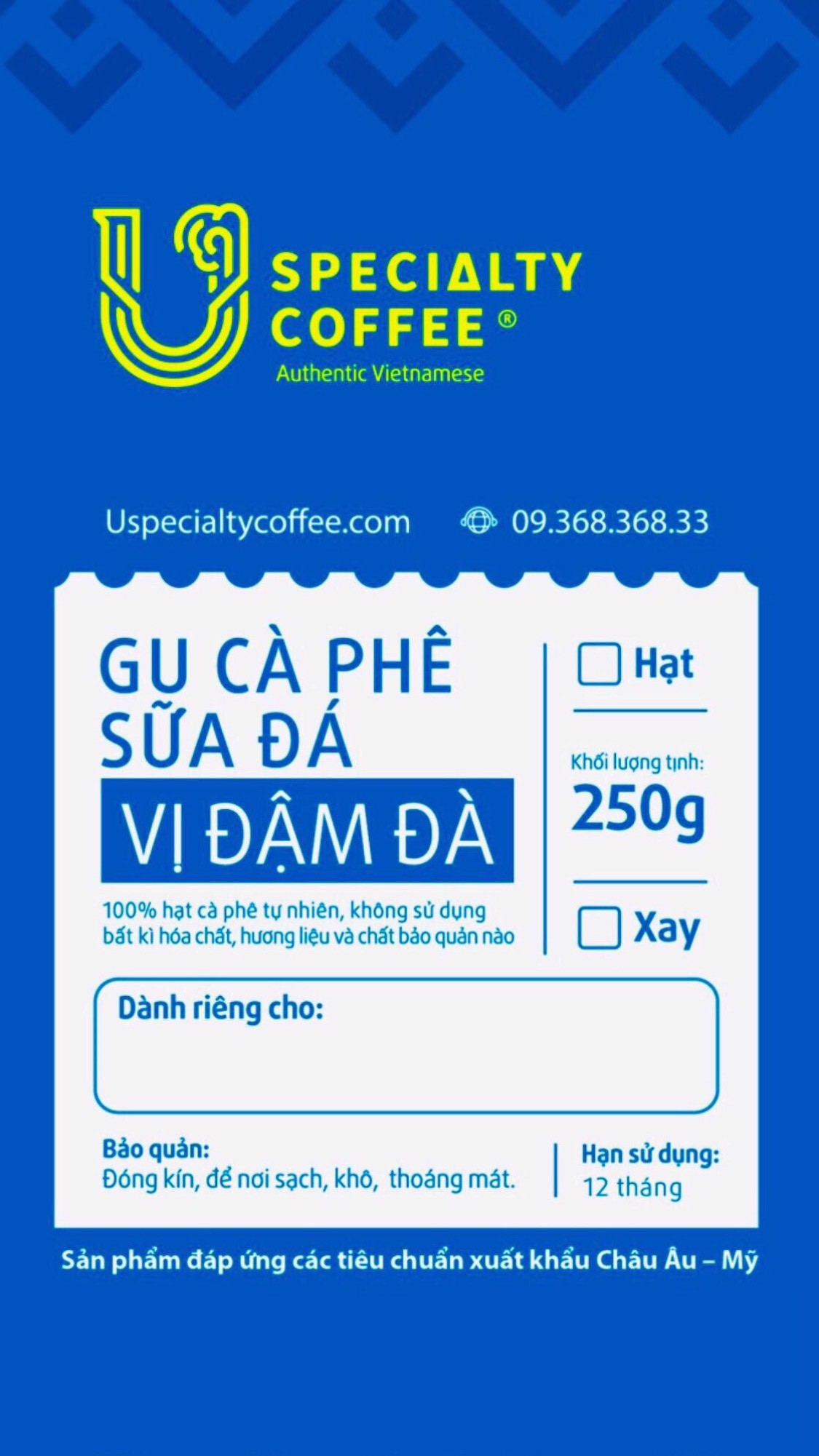 AQUA LABEL FOR VIETNAMESE ICED/ MILK COFFEE LOVERS