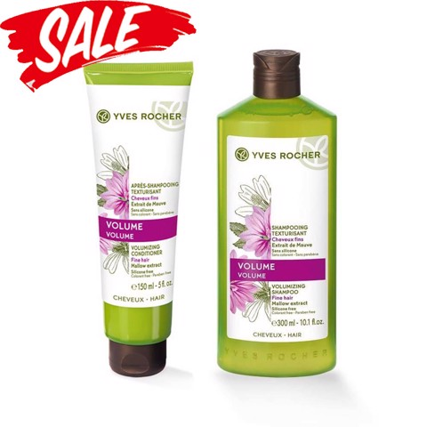Yves Rocher Combo Dầu Gội Volumizing Shampoo 300ml & Dầu Xả Shine Intense Shine Conditioner 150ml
