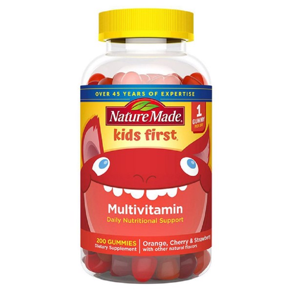 Nature Made Kẹo Dẻo Kids First Multivitamin Gummies 200 Viên