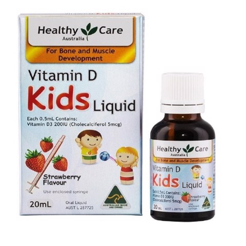 Healthy Care Vitamin D Dạng Nước Cho Trẻ Kids Liquid 20ml