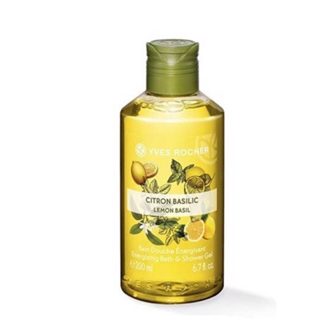 Yves Rocher Gel Tắm Chanh & Lá Húng Tây Lemon Basil Energizing Bath & Shower Gel 200ml