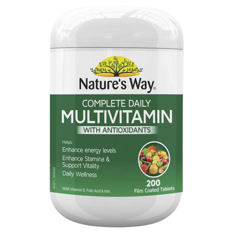 Vitamin Tổng Hợp Nature's Way Complete Daily Vitamins With Antixiodants 200 viên
