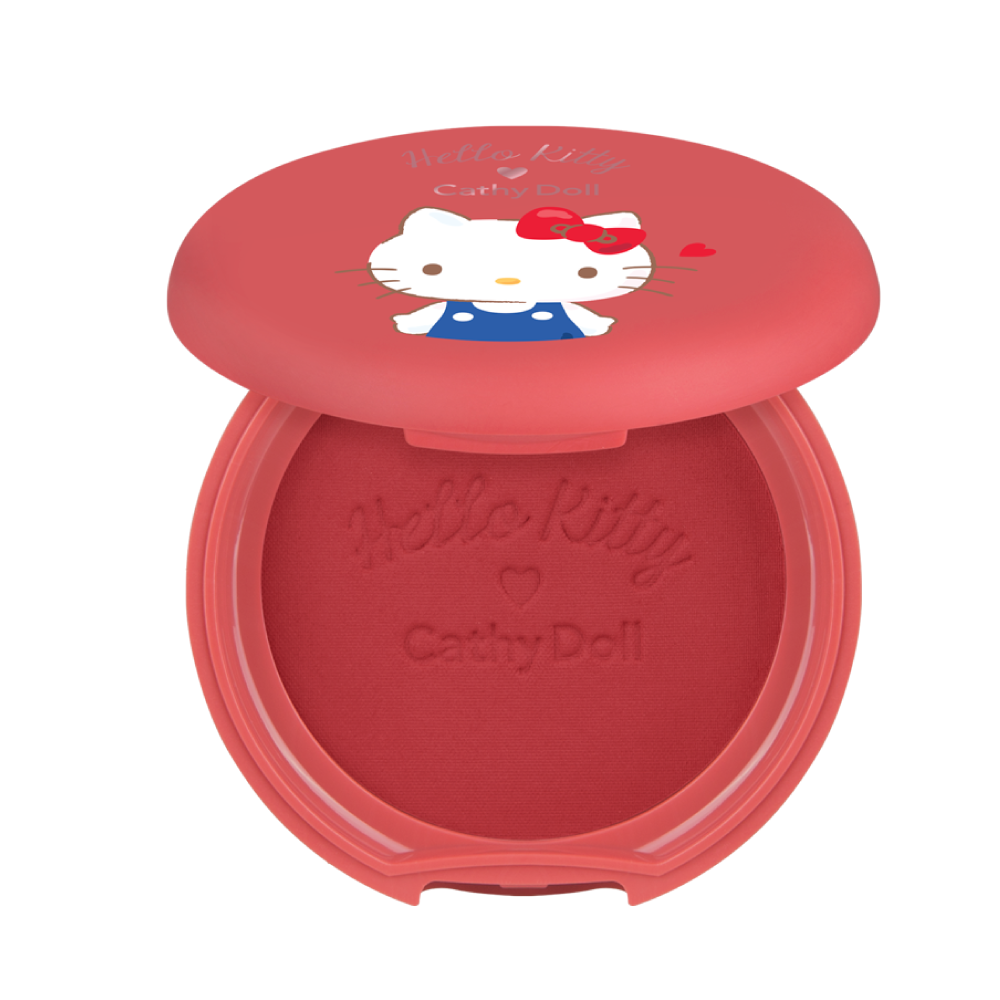 Phấn má hồng Hello Kitty Cathy Doll Cotton Matte Blusher 6.5g #04 Choco Cherry