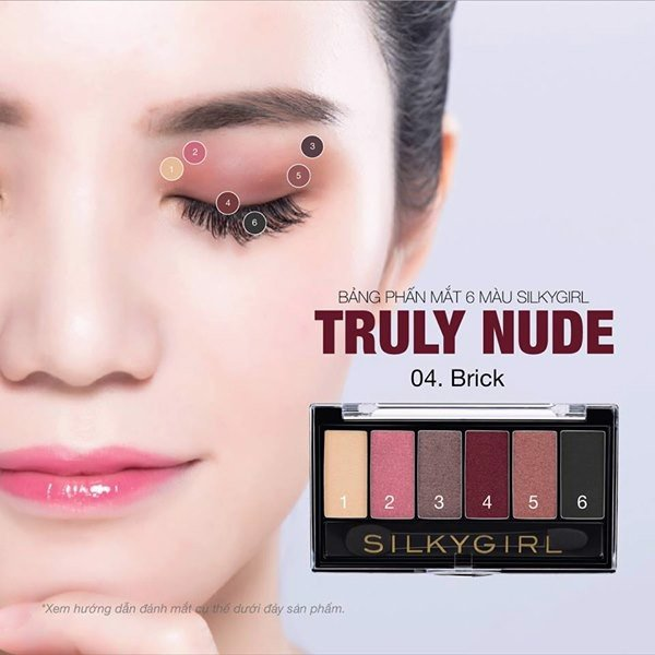 Bảng Phấn Mắt 6 Màu Silkygirl Truly Nude 6g - Blossom