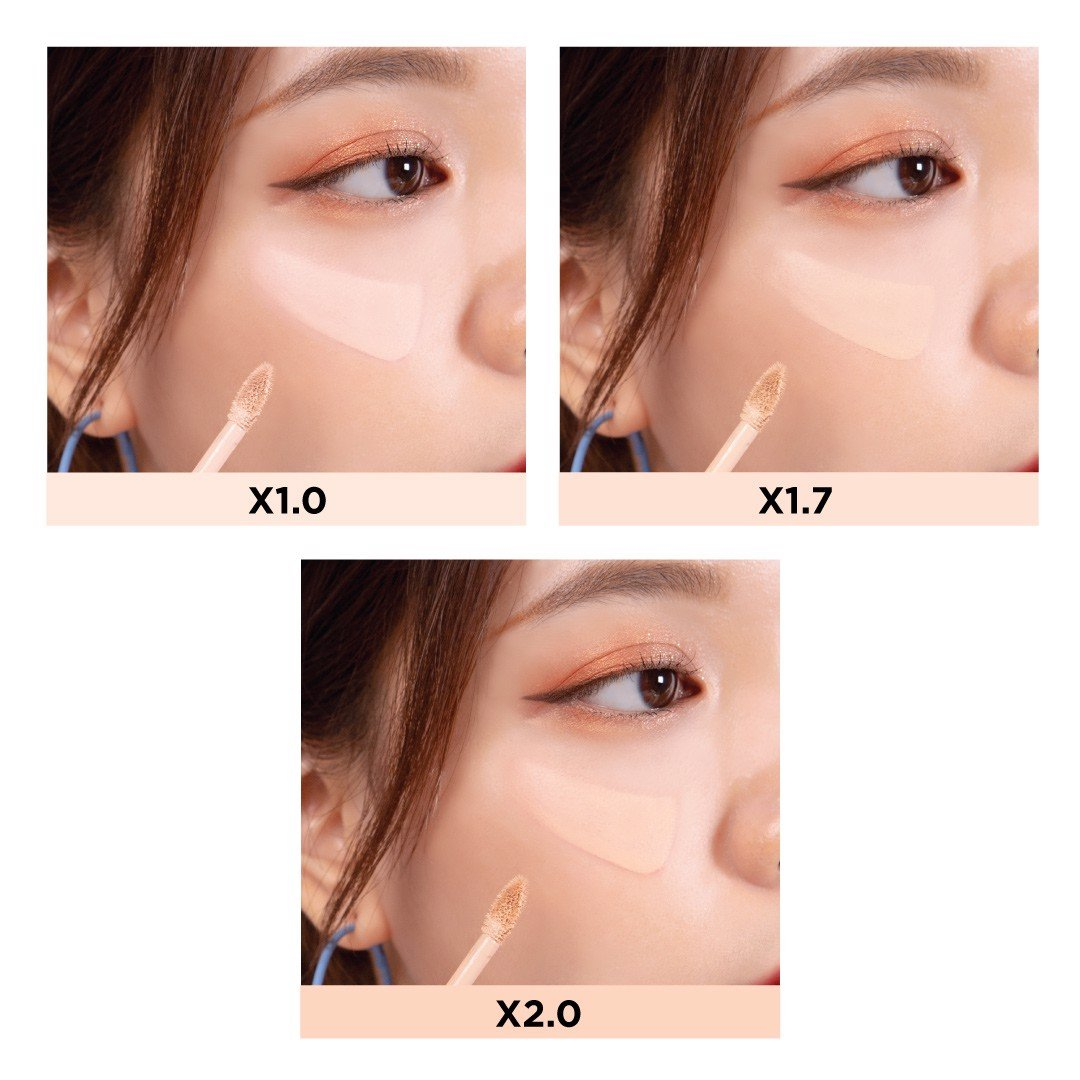 Kem Che Khuyết Điểm Black Rouge Zoom In HD Cover Fit Concealer 3g .#X2.0