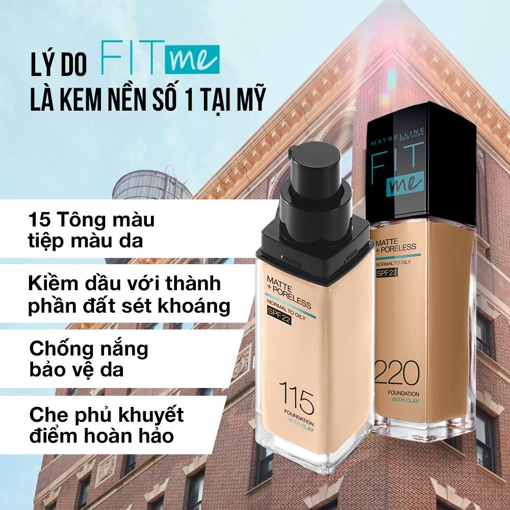 Kem Nền Maybelline New York FitMe SPF22 30ml .#110