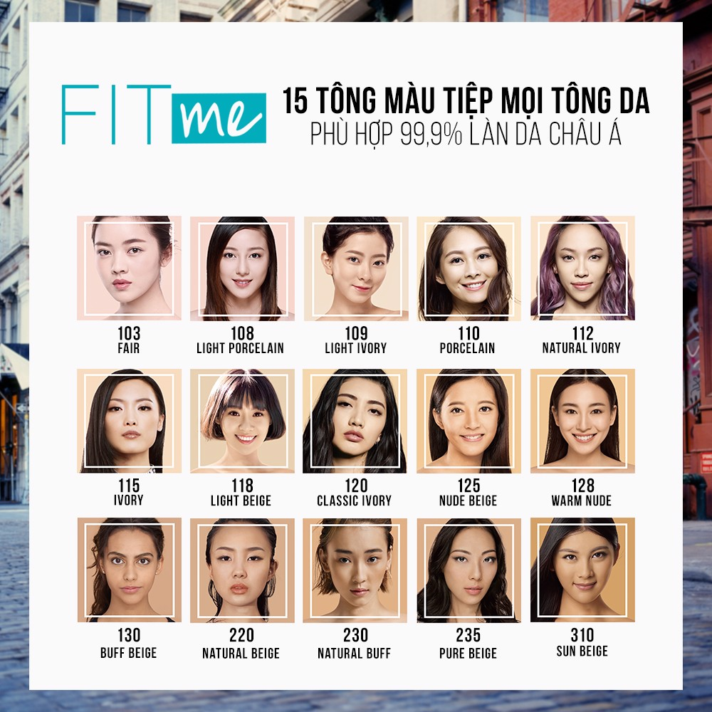 Kem Nền Maybelline New York FitMe SPF22 30ml .#125
