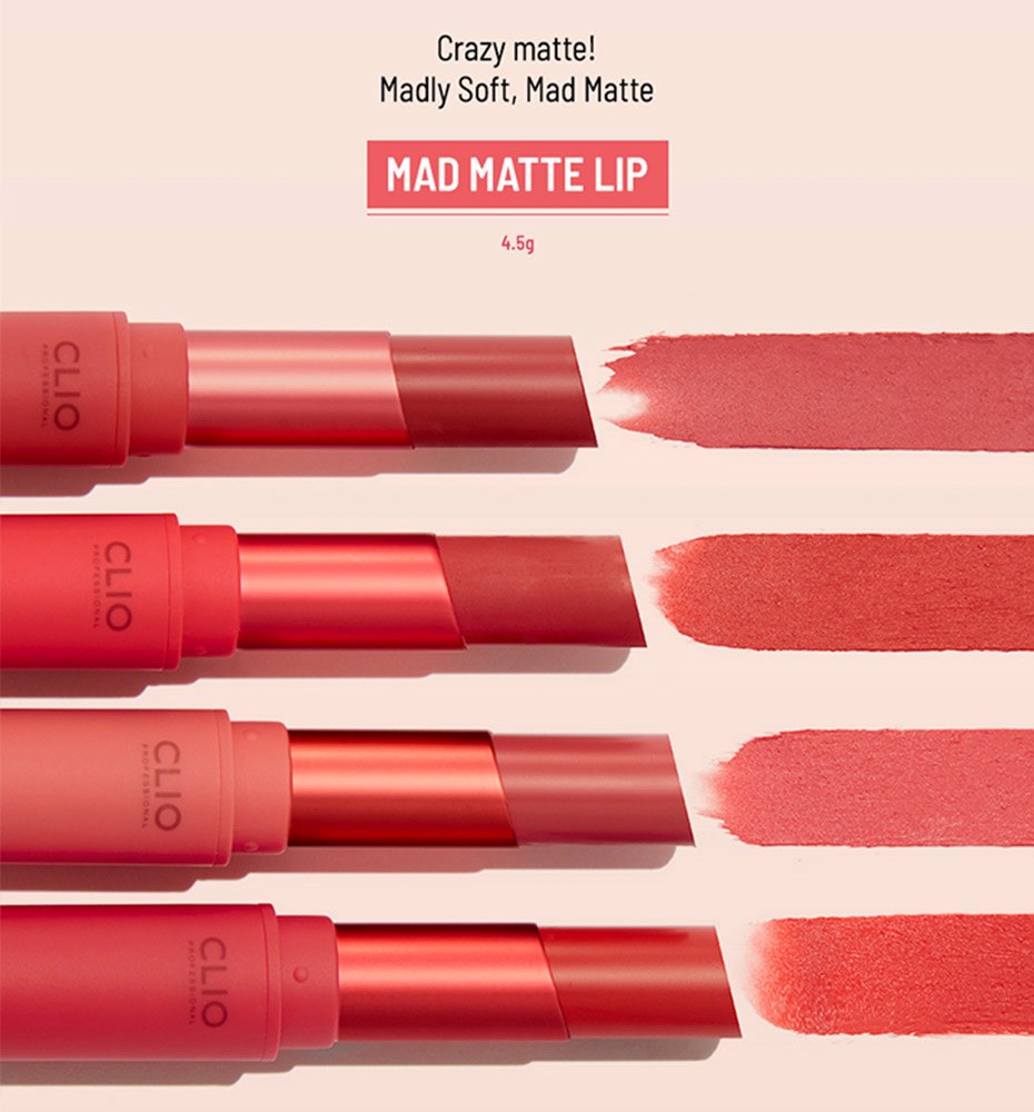 Son thỏi Clio Mad Matte Lip 003 4.5g
