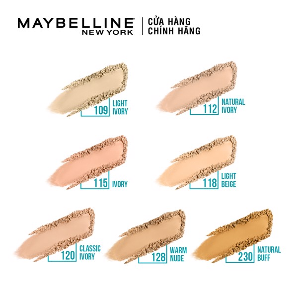Phấn nền kiềm dầu 12h Maybelline Fit Me SPF28PA+++ 120 Classic Ivory (6g)
