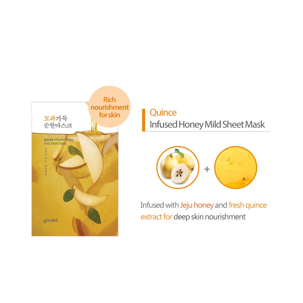 Mặt nạ giấy Goodal Quince Infused Honey Mild Sheet Mask 23ml