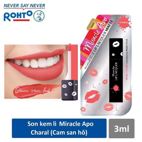 Son Miracle Apo Lacquer cam san hô 3ml