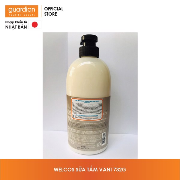 Sữa Tắm Body & Spa Welcos Shower Gel Vani Chai 732G