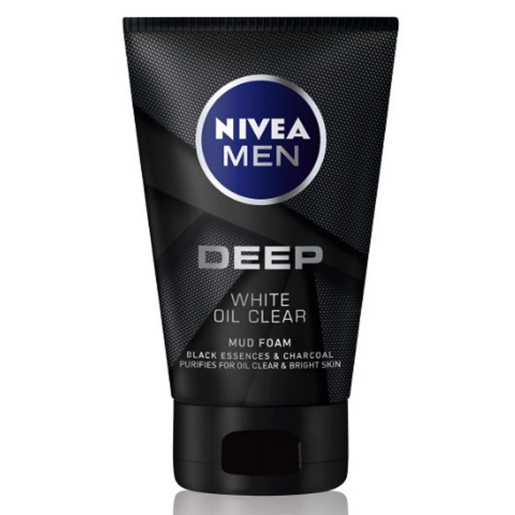 Sữa rửa mặt Nivea Men Deep White Oil Clear (100g)