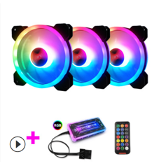 Bộ 3 fan led Coolmoon RGB V2 - kèm hub