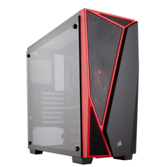 Case CORSAIR SPEC-04 Black/Red Mid Tower