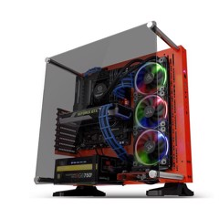 Case Thermaltake CORE P3 Tempered Glass RED  Mid - Tower