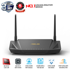 ASUS RT - AX56U (Gaming Router) Wifi AX1800 2 băng tần, Wifi 6 (802.11ax)