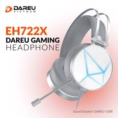 Tai nghe DAREU EH722X ARTIC (MULTI LED)