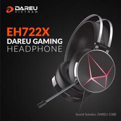 Tai nghe DAREU EH722X BLACK (MULTI LED)